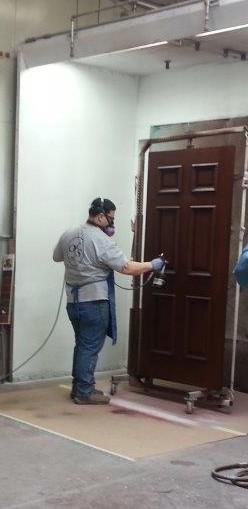 Exterior Door Finishing Clear Coat Applied